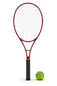 Single tennis racket