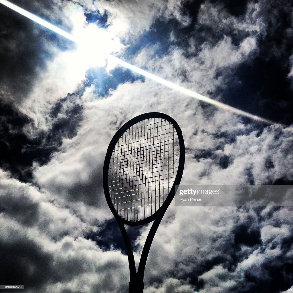 A tennis racquet is seen during day nine of the 2013 Australian Open at Melbourne Park on January 22, 2013 in Melbourne, Australia.