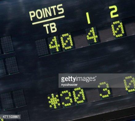 Tennis scoreboard 30-40 Breakpoint