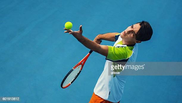 Tennis serve.