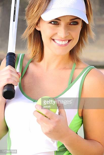 Sorriso con palla da Tennis
