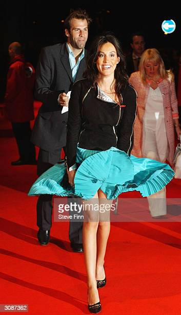 Tennis star Greg Rudeski and wife Lucy arrive at the 'Daily Mirror's Pride Of Britain Awards' at the London Hilton Hotel on March 15 2004 in London...