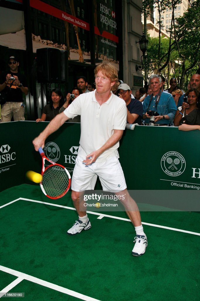 Monica Seles and Jim Courier Pre-Wimbledon Rally on Fifth Avenue
