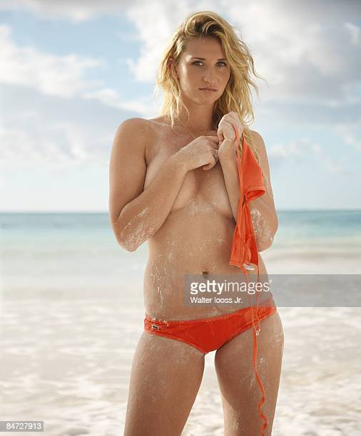 SANTO DOMINGO DO Tennis star Tatiana Golovin is photographed for Swimsuit Issue 2009 {Photo by Walter Ioos Jr/Sports Illustrated/Contour by Getty...