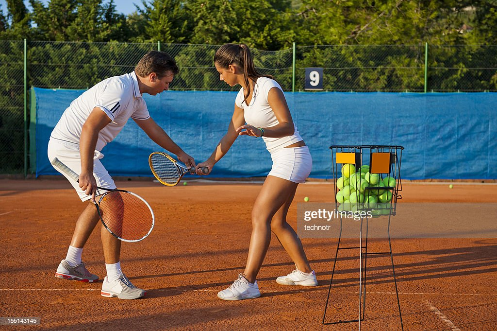 Tennis Teacher Stock Photos Images. Royalty Free Tennis Teacher ...