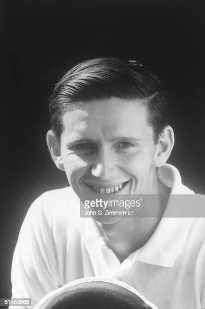 Tennis US National Championships Closeup portrait of Roy Emerson at West Side Tennis Club Forest Hills NY 9/4/1956