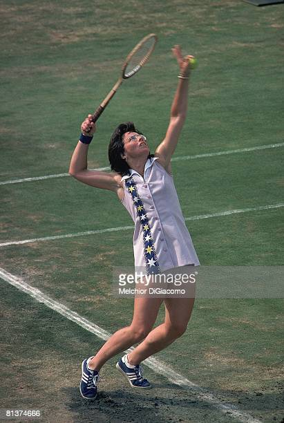 Tennis US Open Billie Jean King in action Forest Hills NY 8/28/1974