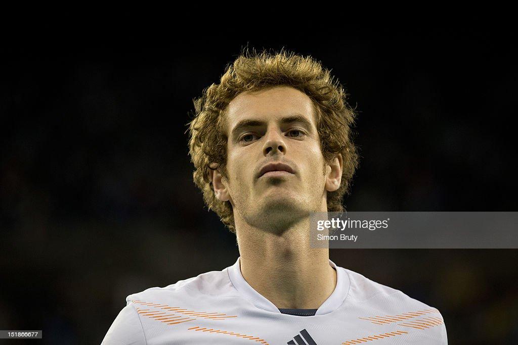 Closeup of Great Britain Andy Murray during Men's Final vs Serbia Novak Djokovic at BJK National Tennis Center. Simon Bruty F25 )