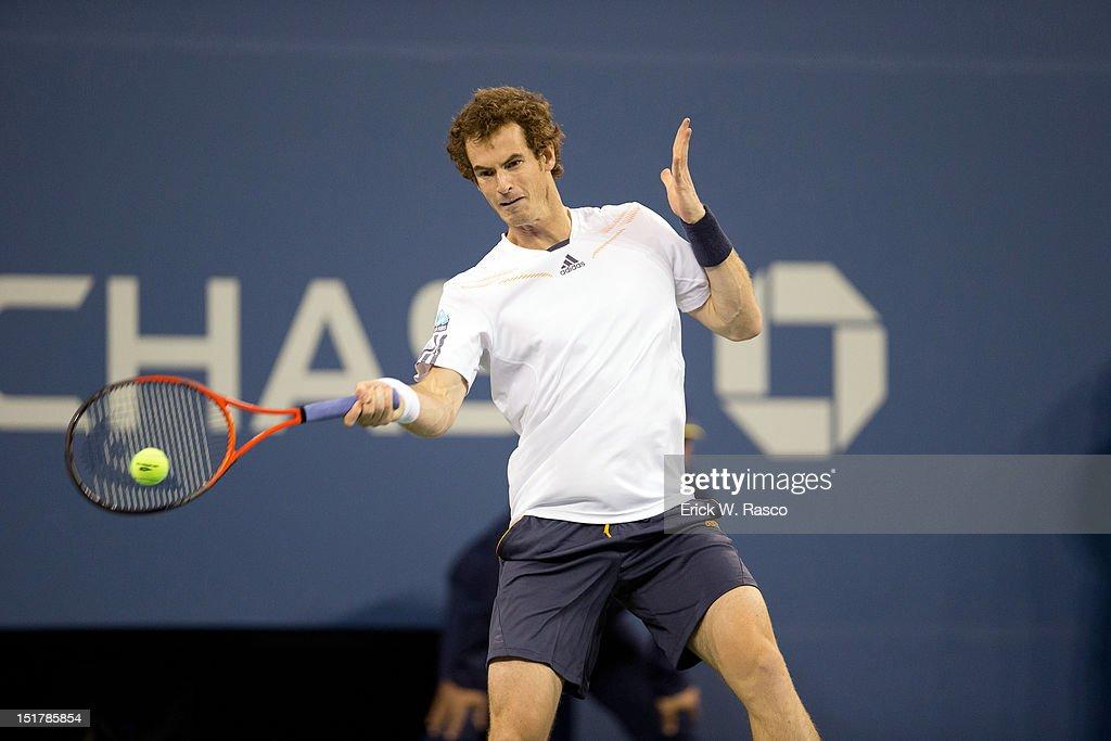 Great Britain Andy Murray in action vs Serbia Novak Djokovic during Men's Final at BJK National Tennis Center. Erick W. Rasco F49 )
