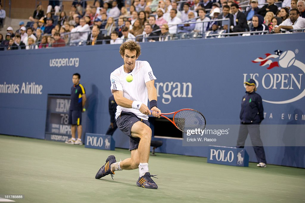 Great Britain Andy Murray in action vs Serbia Novak Djokovic during Men's Final at BJK National Tennis Center. Erick W. Rasco F217 )