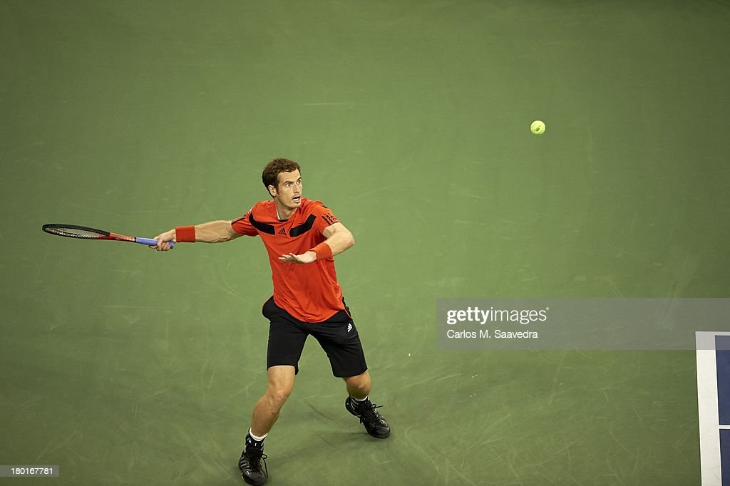 Great Britain Andy Murray in action vs Uzbekistan Denis Istomin during Men's 4th Round at BJK National Tennis Center. Carlos M. Saavedra F68 )