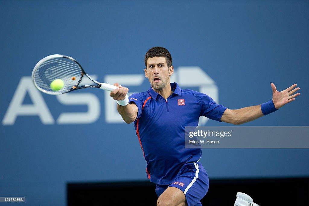 Serbia Novak Djokovic in action vs Great Britain Andy Murray during Men's Final at BJK National Tennis Center. Erick W. Rasco F53 )