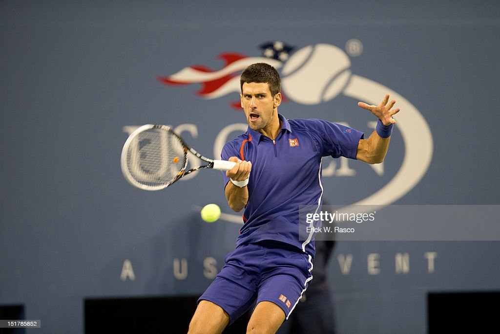Serbia Novak Djokovic in action vs Great Britain Andy Murray during Men's Final at BJK National Tennis Center. Erick W. Rasco F2 )