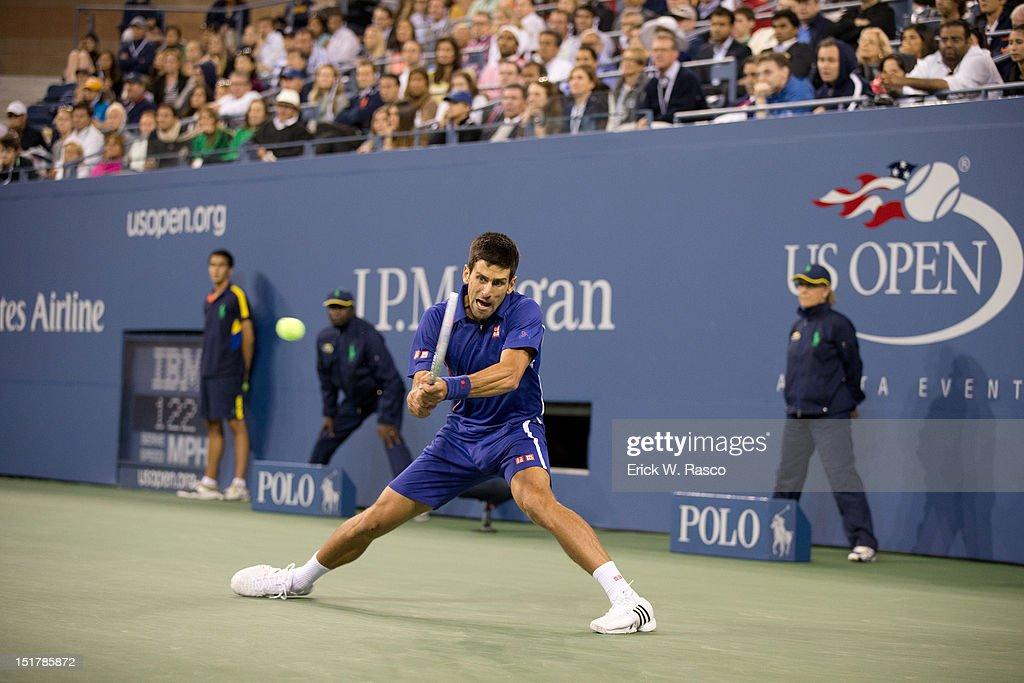 Serbia Novak Djokovic in action vs Great Britain Andy Murray during Men's Final at BJK National Tennis Center. Erick W. Rasco F54 )