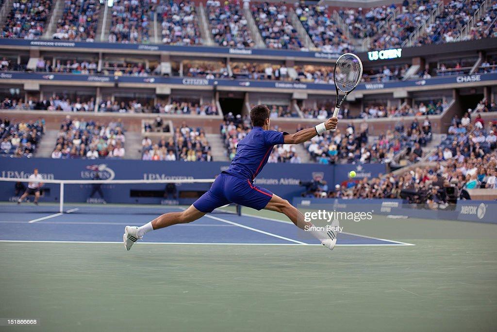 Serbia Novak Djokovic in action vs Great Britain Andy Murray during Men's Final at BJK National Tennis Center. Simon Bruty F33 )