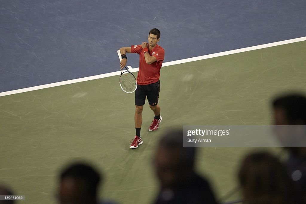 Serbia Novak Djokovic in action vs Spain Rafael Nadal during Men's Final at BJK National Tennis Center. Suzy Allman F7 )