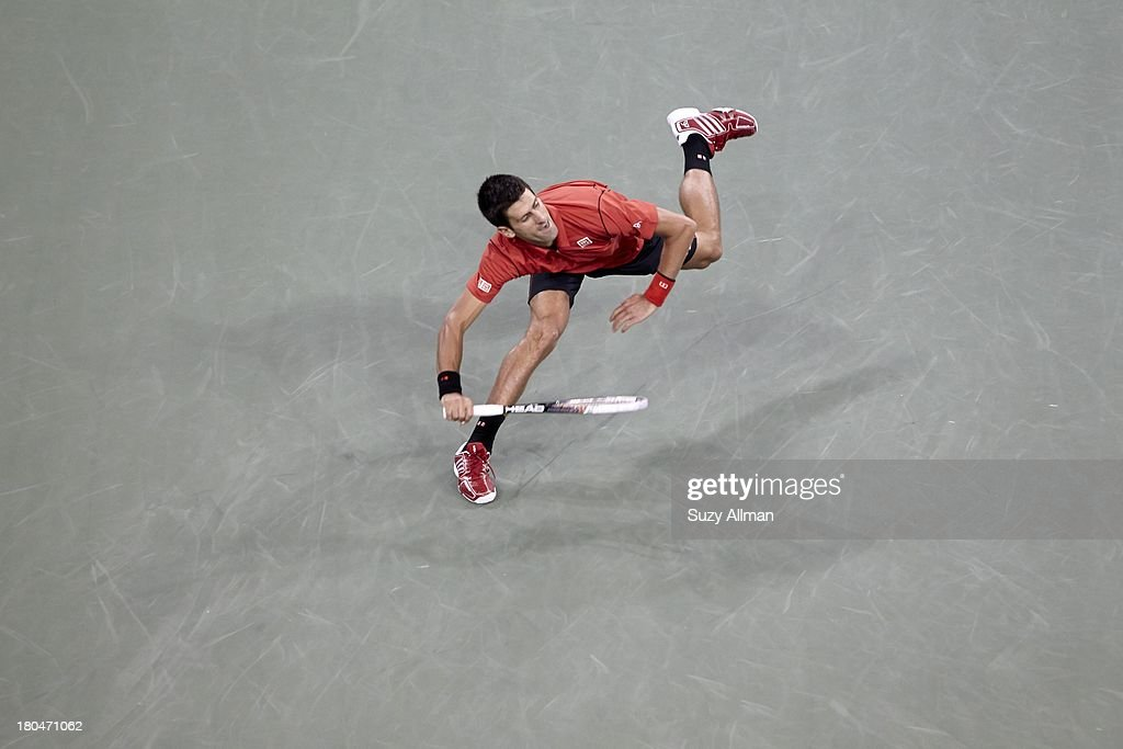Serbia Novak Djokovic in action vs Spain Rafael Nadal during Men's Final at BJK National Tennis Center. Suzy Allman F57 )