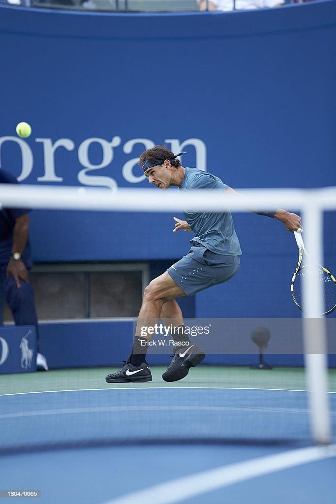 Spain Rafael Nadal in action vs Serbia Novak Djokovic during Men's Final at BJK National Tennis Center. Erick W. Rasco F15 )