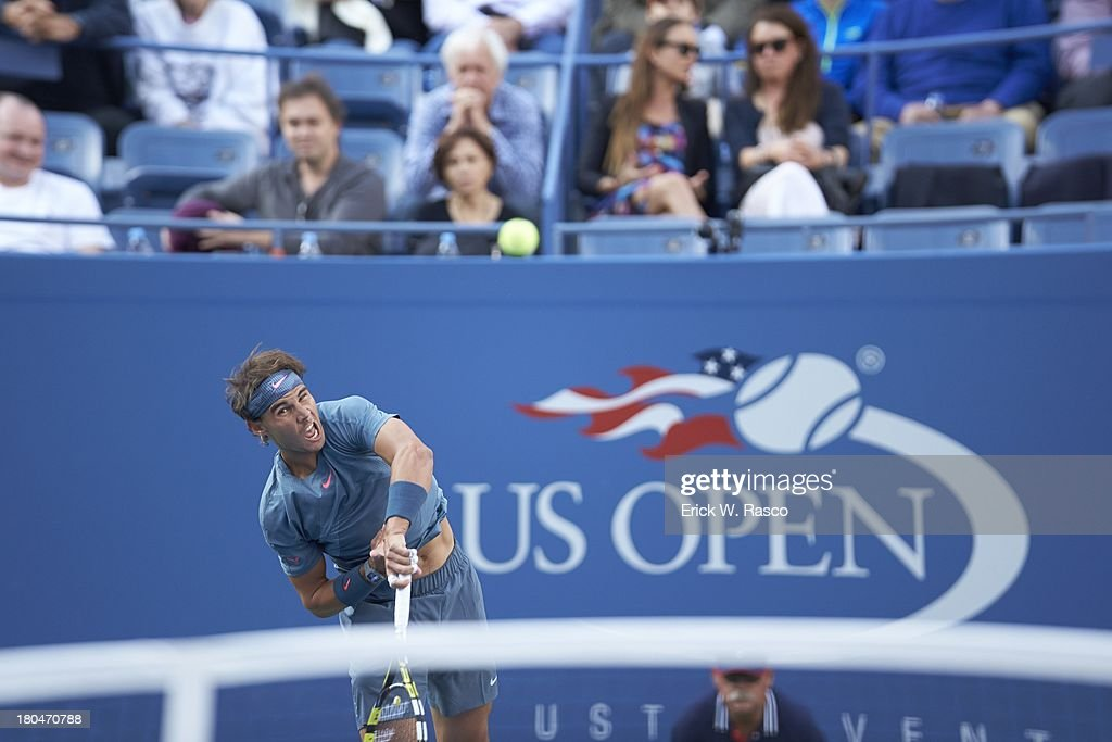 Spain Rafael Nadal in action vs Serbia Novak Djokovic during Men's Final at BJK National Tennis Center. Erick W. Rasco F85 )