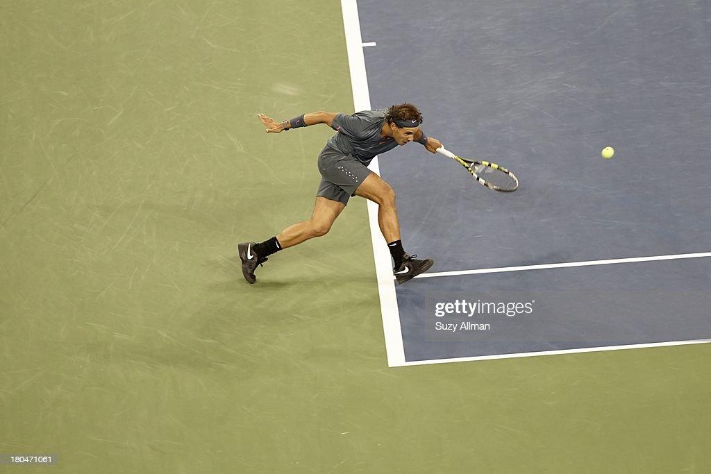 Spain Rafael Nadal in action vs Serbia Novak Djokovic during Men's Final at BJK National Tennis Center. Suzy Allman F56 )