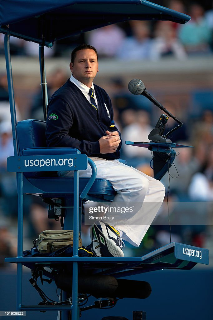 View of line judge during Serbia Novak Djokovic vs Great Britain Andy Murray Men's Final at BJK National Tennis Center. Simon Bruty F20 )