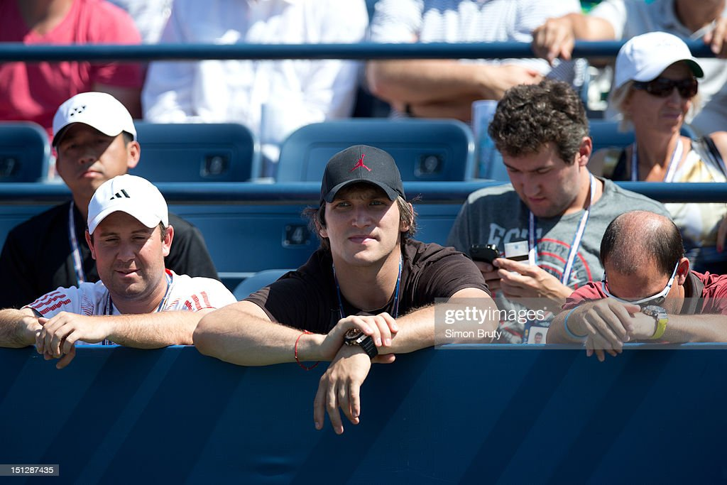 View of Washington Capitals player Alexander Ovechkin casual, in stands during Women's 2nd Round match between Russia Maria Kirilenko and Hungary Greta Arn at BJK National Tennis Center. Ovechkin is Kirilenko's boyfriend. Simon Bruty F37 )
