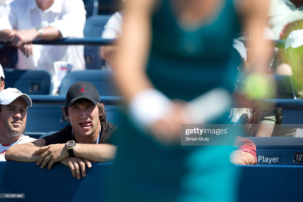 View of Washington Capitals player Alexander Ovechkin casual, in stands during Women's 2nd Round match between Russia Maria Kirilenko and Hungary Greta Arn at BJK National Tennis Center. Ovechkin is Kirilenko's boyfriend. Simon Bruty F188 )