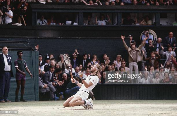 Tennis Wimbledon Bjorn Borg victorious after finals match vs John McEnroe at All England Club London GBR 6/29/1980