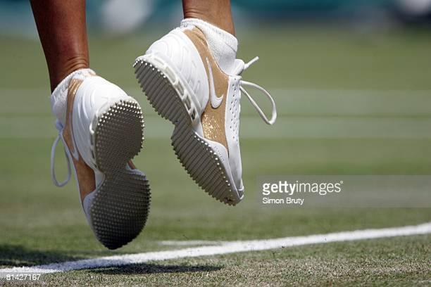 Tennis Wimbledon Closeup of sneakers equipment of RUS Maria Sharapova during 2nd round vs BGR Sesil Karatantcheva at All England Club London GBR...