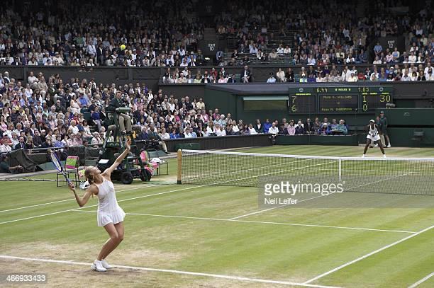 Wimbledon Russia Maria Sharapova in action serve vs USA Venus Williams during Women's Semifinals at All England Club London England 6/30/2005 CREDIT...