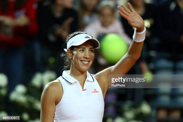 Tennis WTA Internazionali d'Italia BNL quarterfinals Garbine Muguruza celebrating at Foro Italico in Rome Italy on May 19 2017