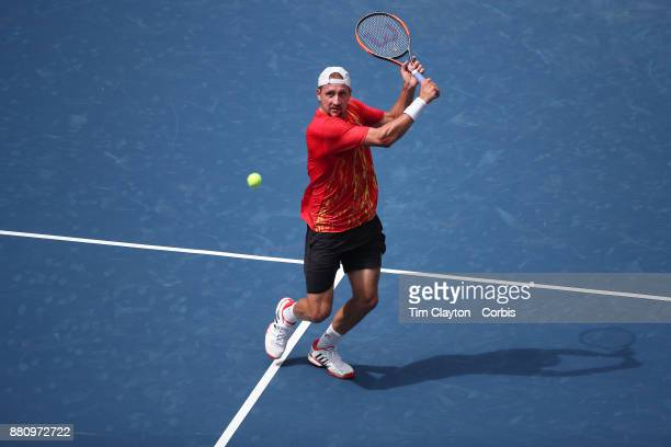 S Open August 28 DAY ONE Tennys Sandgren of the United States in action against Marin Cilic of Croatia in action during the Men's Singles round one...