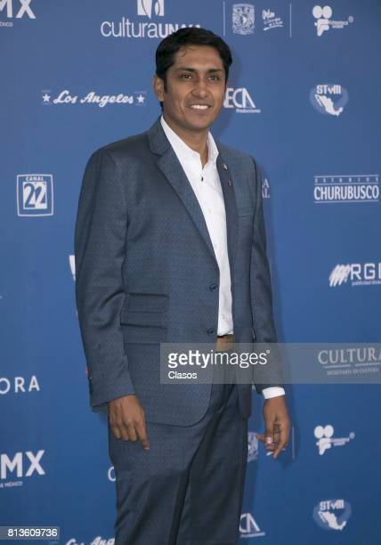 Tenoch Huerta poses during during the 59th Ariel Awards Red Carpet at Palacio de Bellas Artes on July 11 2017 in Mexico City Mexico