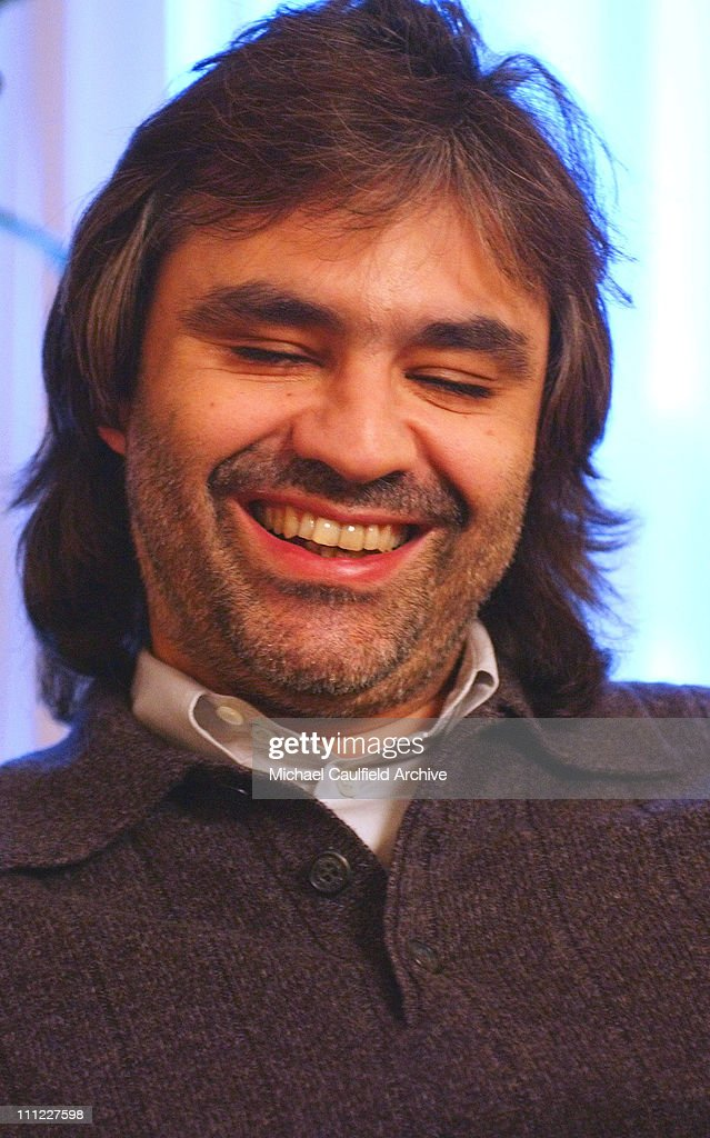 Tenor <a gi-track='captionPersonalityLinkClicked' href=/galleries/search?phrase=Andrea+Bocelli&family=editorial&specificpeople=211558 ng-click='$event.stopPropagation()'>Andrea Bocelli</a> smiles during a photo session and interview at Hotel L'Hermitage in Beverly Hills, Calif. Monday, Nov. 26, 2001. Bocelli will perform with the New West Symphony Friday Nov. 30, 2001 at Staples Center and the Dec. 1, 2001 at the Arrowhead Pond of Anaheim.