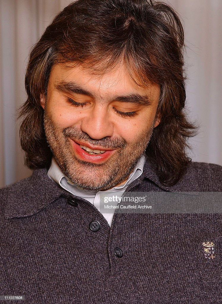 Tenor Andrea Bocelli Photo Session