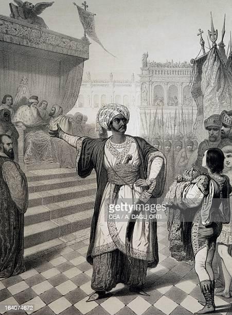 Tenor Giovan Battista Rubini as Otello in the homonynous opera by Gioachino Rossini Engraving Pesaro Casa Rossini