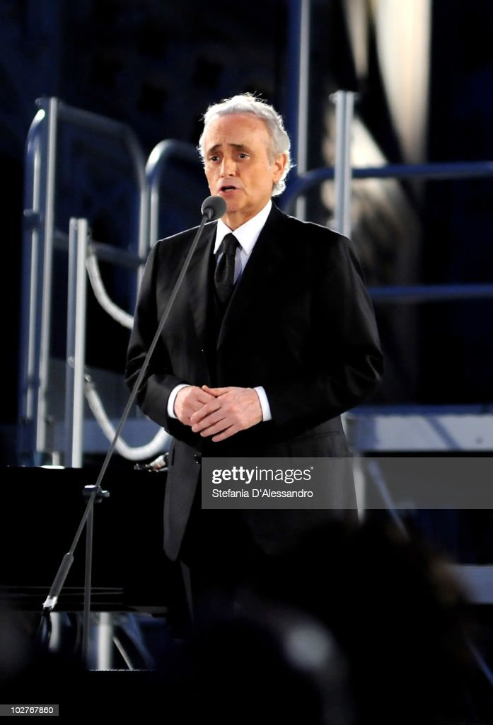 Tenor Jose Carreras performs live at the Terrazze del Duomo on July 9, 2010 in Milan, Italy.