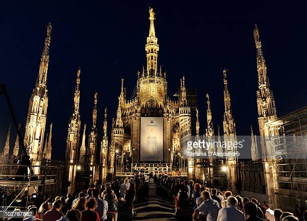Tenor Jose Carreras performs live at the Terrazze del Duomo on July 9 2010 in Milan Italy