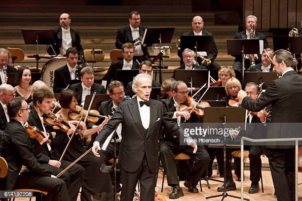 Tenor Jose Carreras performs live during a concert at the Philharmonie on October 12 2016 in Berlin Germany