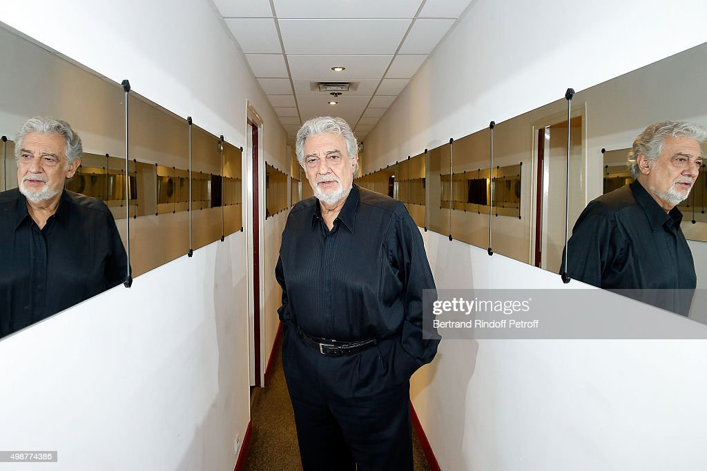 Tenor Opera Singer Placido Domingo attends 'Vivement Dimanche' TV Show at Pavillon Gabriel on November 25, 2015 in Paris, France.