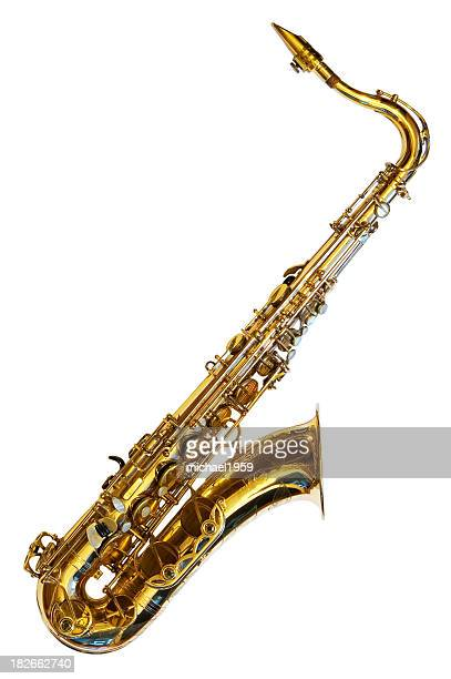 Tenor saxophone isolated on white background