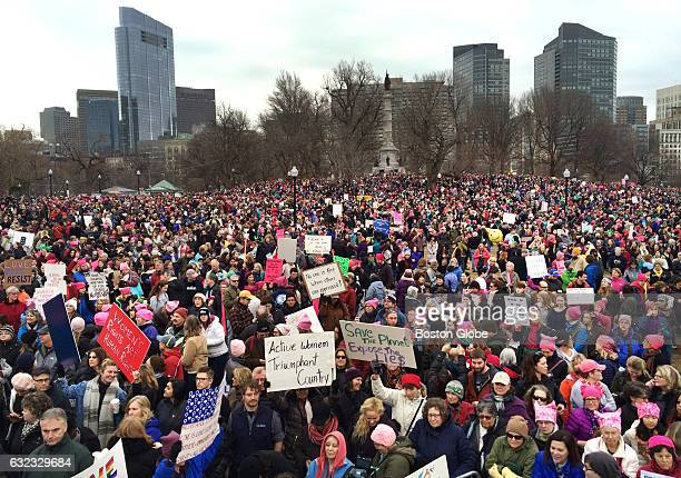 Tens of thousands of people filled Boston Common for the Boston Women's March for America Jan 21 2017