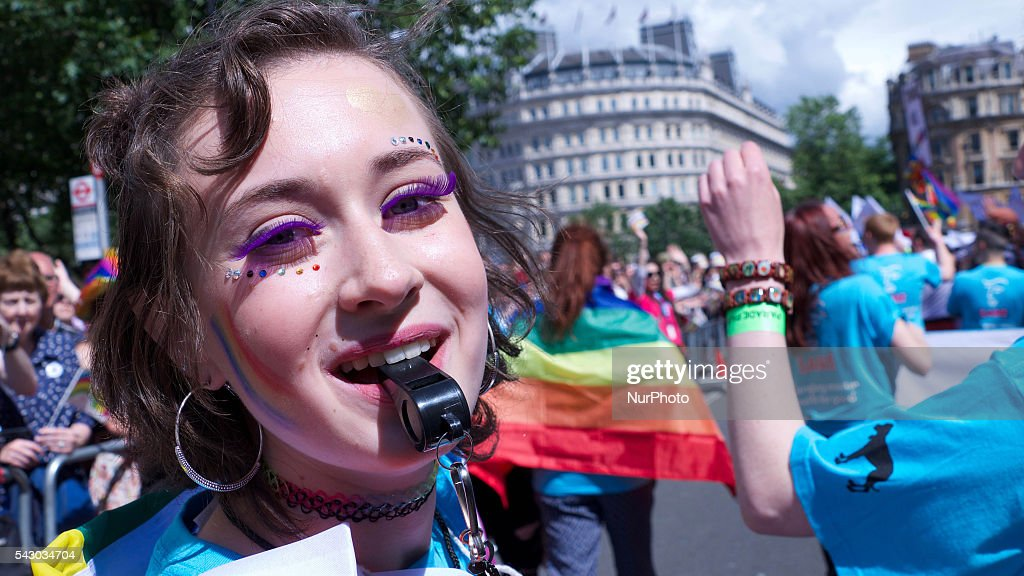 Tens of Thousands of people joined in the London Pride parade which marched along central London on 25 June 2016. The annual celebration is now in its 43rd year. The parade stopped for a one minute silent tribute to the victims of the Orlando nightclub shooting in the USA. The parade lasted 3 hours and there was very heavy police presence throughout the area.