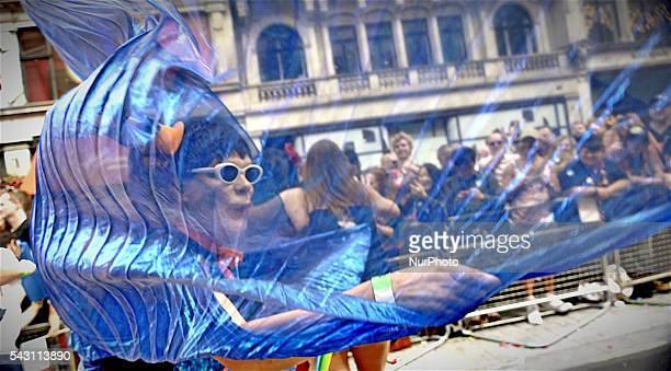 Tens of Thousands of people joined in the London Pride parade which marched along central London The annual celebration is now in its 43rd year The...