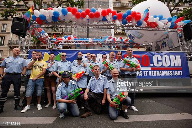 Tens of thousands of people marched during the Gay Pride Parade on June 30 2012 in Paris France