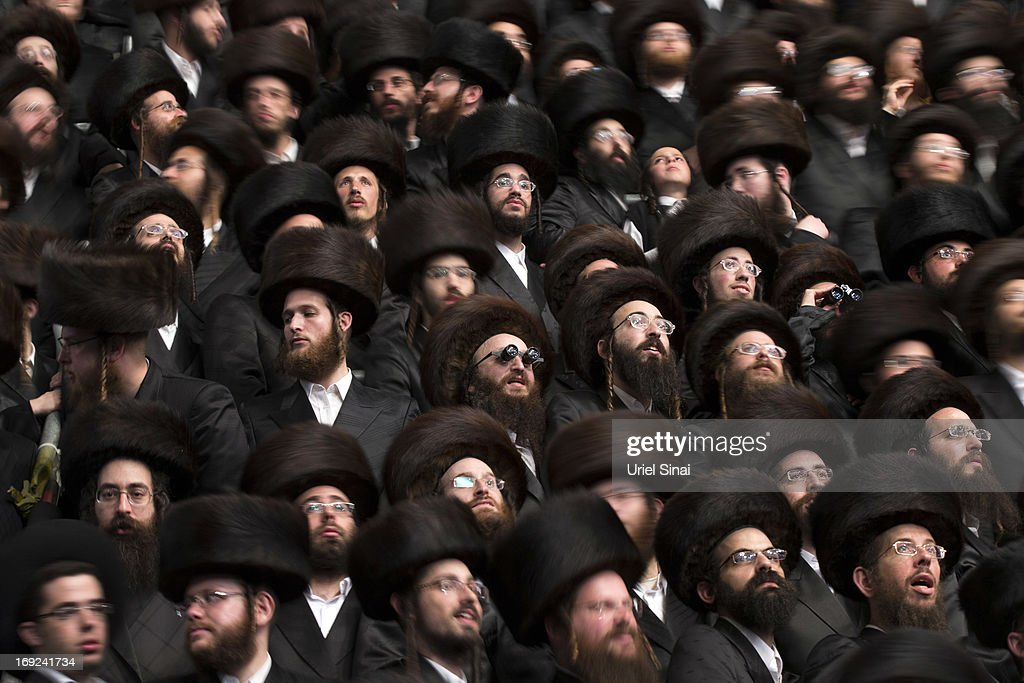 Tens of thousands of UltraOrthodox Jews of the Belz Hasidic Dynasty take part in the wedding ceremony of Rabbi Shalom Rokach the Grandson of the Belz...