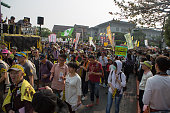 Tens of thousands took to the streets calling for the end to nuclear power and a shut down of all nuclear reactors on the island within a decade
