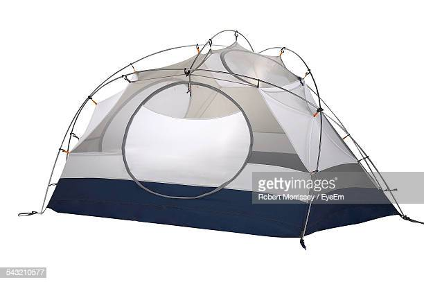 Tent Against White Background