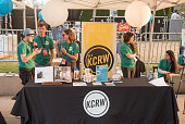 KCRW tent at KCRW and The Annenberg Foundation's concert series Sound In Focus at Annenberg Space For Photography on July 23 2016 in Century City...