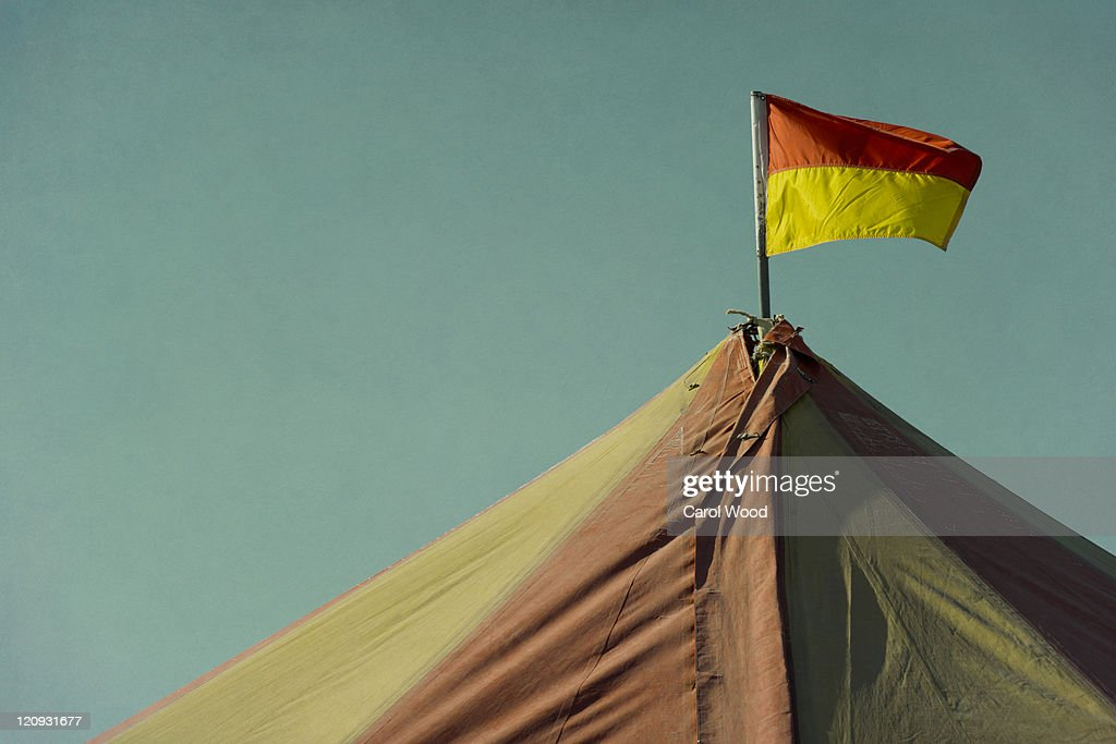 Tent at  traveling circus : Stock Photo